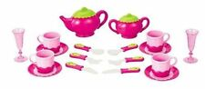Toy Deluxe Pink Tea Set For Kids W/Pots Cups Dishes Kitchen Utensils 18 Pc#PS850
