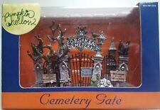 lemax halloween pumpkin hollow cemetery gate nib 2005
