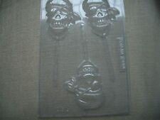 3 ON 1 PIRATE SKULL CHOCOLATE LOLLY MOULD/MOULDS/BOYS/KIDS/FUN/THEME PARTY BAGS
