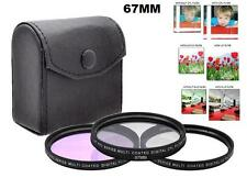 Xit 67mm 3PC Filter Set for  Canon EF-S 18-135mm f/3.5-5.6 IS STM Lens