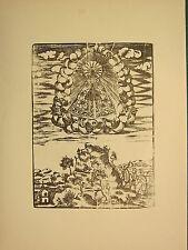 Imagen Religiosa Antigua xilografía impresión ~ ~ Hill Santa María