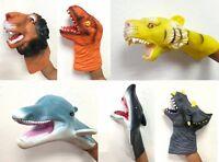 Child Kids Silicone Hand Puppet Gloves Story Telling Dinosaur Shark Lion Tiger