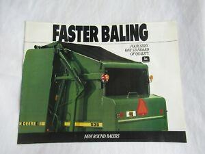 1989 John Deere 335 375 435 535 baler brochure