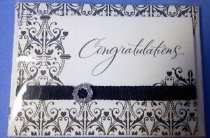 Hallmark Gift Tag Brand New Sealed Embellished Congratulations Wedding