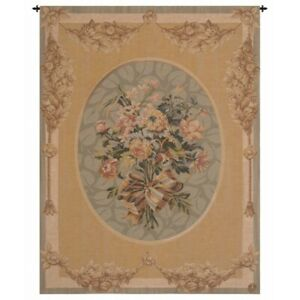 """Petit Bouquet French Tapestry Wall Hanging H 40"""" x W 30"""""""