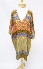 NEW Nic + Zoe Brown Multi Print Basket Weave V Neck Tunic Top Size XS/S  $148