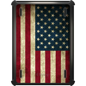 OtterBox Defender for iPad Pro / Air / Mini -  Red White Blue USA Flag Old