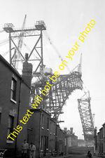 MRS-E0058 - Photo of Mid Construction of Runcorn Silver Jubilee Bridge 1950s