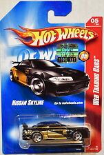 HOT WHEELS 2008 WEB TRADING CARS NISSAN SKYLINE #05/24 BLACK FACTORY SEALED