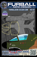1/48 Furball A-7D/E Canopy Seal Decals for the Hasegawa Kit