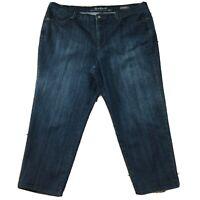 """Gloria Vanderbilt Womens Jeans size 22W Short x28"""" Dark Wash Soft Cotton Stretch"""