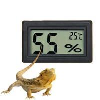 Digital Meter LCD Temperature Humidity Thermometer Rept Hygrometer Vivarium Y8B6