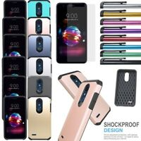 For LG K10+/Harmony 2/Phoenix+ Shockproof Armor Bumper Silicone Hard Case Cover