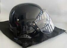 Asia Black Police Enforcement Helmets Qwk Tactical Riot Withface Shield Armor Og