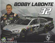 "2015 BOBBY LABONTE ""C&J ENERGY SERVICES"" #32 NASCAR SPRINT CUP POSTCARD"