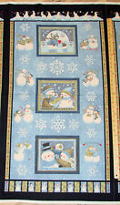 "Winter Friendships Snowman Teresa Kogut Christmas Fabric Panel 23"" Panel"