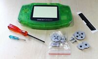 Nintendo Game Boy Advance GBA Replacement Clear Green New Shell Housing  tools
