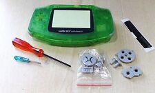 Nintendo Game Boy Advance Gba vivienda transparente verde nuevo Shell de reemplazo herramientas