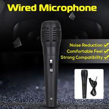 Dynamic Microphone Wired Handheld Mic For Karaoke Singing DJ BK Audio Vocal