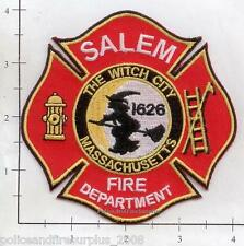 Massachusetts - Salem MA Fire Dept Patch v4 - The Witch City