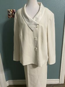 KASPER for Dillard's Beige Career Skirt Suit 18w