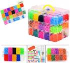 15000/4400Pcs Kit Box+ Rubber Loom Bands Children Mult-color Make Woven Bracelet