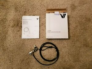 NEW...LOT OF 6...V7 Keyed Laptop Security Cable Lock SLK500, 2 Keys