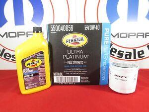 DODGE CHRYSLER JEEP 6.4L 7QT Full Syn Pennzoil Motor Oil & SRT Filter MOPAR