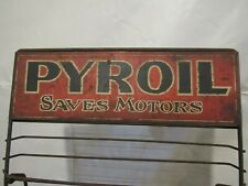 # 2  OIL CAN DISPLAY RACK  WITH PLAIN SIGN  NO DECAL