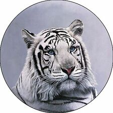 White Bengal Tiger Spare Tire Cover Fits jeep, campers, trailers, backup cameras