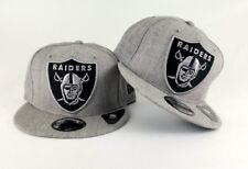New Era Heather Grey Oakland Raiders Shield Logo 9Fifty Snapback Hat