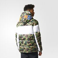 Adidas Winter Mens ID96 Down Bape Jacket BK4568 Camo Shark WGM Bathing APE DS