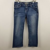 BKE Denim Buckle Stretch Tenley Crop Capri Women's Blue Jeans Size 29
