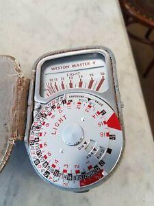 Vintage Weston Master V Light Meter Model 748 with leather Case