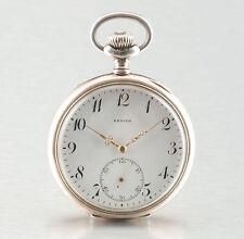 beautifull Zenith Swiss Silver pocket watch circa 1900
