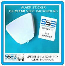 Deterrent Security Box Stickers - Real Alarm Installation Company - Live Tel Nos