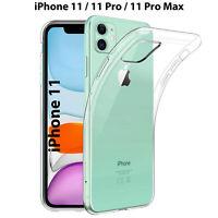 Cover per Apple iPhone 11 Pro Max Trasparente Silicone Custodia Morbida Slim Tpu