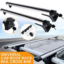 125cm Universal Silver Car Roof Rack Cross Bar Lockable Rail Luggage Carrier