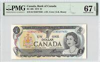 Canada 1973 BC-46b PMG Superb Gem UNC 67 EPQ 1 Dollar (Crow-Bouey)
