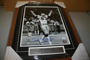OAKLAND RAIDERS TED HENDRICKS SIGNED FRAMED 11X14 PHOTO HOF 90 3X SB CHAMPS JSA