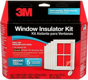 3M Indoor Window Insulator Kit, Covers Five 3 ft. by 5 ft. Windows
