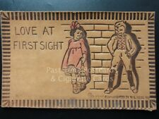"""American Leather Postcard: """"LOVE AT FIRST SIGHT.."""" by W.S.Neal c1907"""