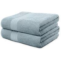 2-Piece Bath Towels Set for Bathroom | 100% Soft Cotton Turkish Towels - L. Blue