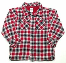 Gymboree Size 3T FIRE TRUCK CHIEF Toddler Boys Plaid Winter Shirt GUC Holiday