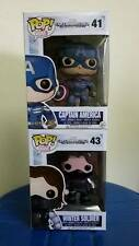 Funko Pop Marvel Captain America 41 Winter Soldier Unmasked 43 free 2 protectors