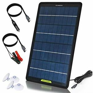 ECO-WORTHY 10W 12V Portable Solar Panel Battery Maintainer,High Conversion Power