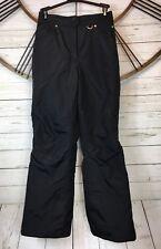 Slalom Ski Snowboard Pants Black Nylon, Polyester Lining Size Medium