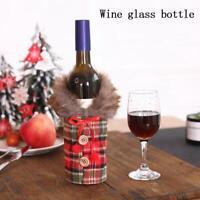 1*Santa Claus Wine Bottle Cover Gift Bag Christmas Dinner Party Xmas Decor