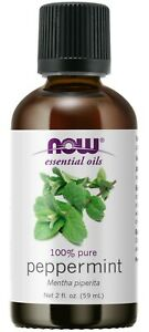 NOW Essential Oils Peppermint Oil Invigorating Aromatherapy Scent 100% Pure 2OZ.