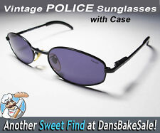 Police Vintage Black Sunglasses Mod 2496 Made in Italy - Hard Case - Super Cool!